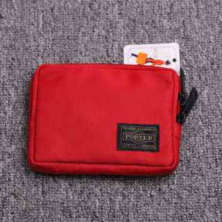 🚚 💥CHEAPEST - Porter Wallet Pouch for Coins Cash money phone cards - Red Color (NEW) #under9