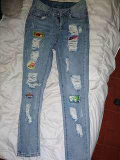 Tattered Pants w/ Patches