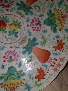 成化年制 - 豆彩瓷盘