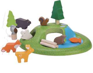 3-5Y NEW Plan Toys PlanWorld Animal Set