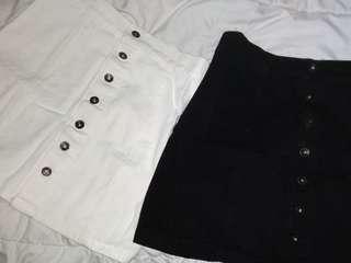 2pcs Button Down Skirt