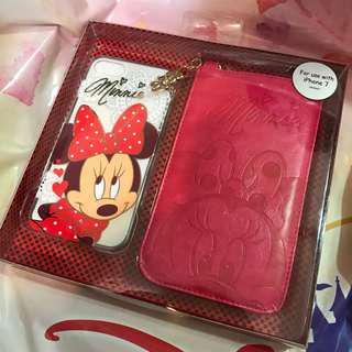 Disney Minnie Mouse IPhone7 機殻連手機皮套