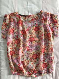 "Zara top bunga"""