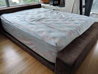 [With Delivery!] Queen Size Bed with Double Pillow Top!
