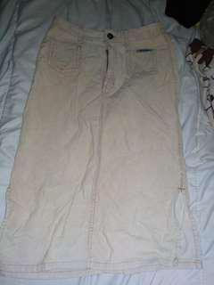Vintage Knee-Length Mocha Skirt