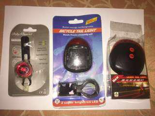 ** 9.9 power sale **ruby light/solar power light/laser tail light/ CLEARANCES SALES