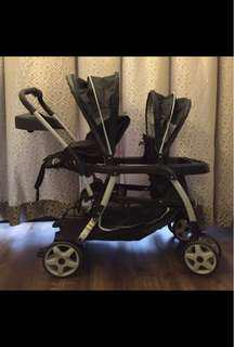 Graco Ready2grow tandem/twin/double stroller (reduced)
