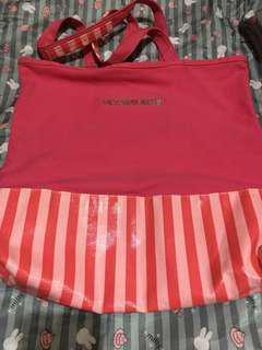 preloved vs stripe pink tote bag