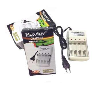 🔥 Maxday Universal Battery AA / AAA Charger Ni-CD/ Ni-MH Li-on Charger Bateri