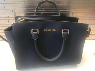 Authentic Selma Saffiano Leather Medium Satchel