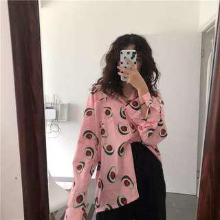 Avacado Pink Button Up Blouse