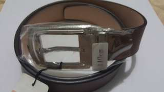 Braun Buffel Brown Leather Belt