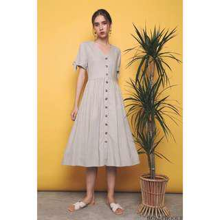 The Holly Hoque VENCI RESORT MIDI DRESS IN MUTED MINT