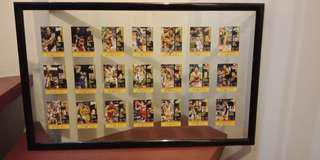 Hand signed autograph of 21 PBA All Stars in limited edition basketball cards
