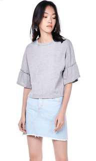 BNWOT The Editors Market Light-Blue Denim Skirt