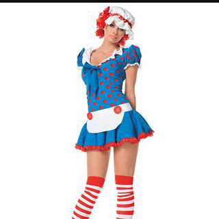 Womens Rag Doll Halloween Costume