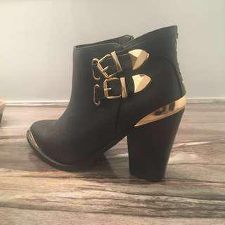 New Gold/Black Booties