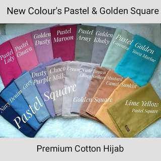 Hijab Premium Cotton Golden Square Segiempat Original