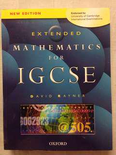 Extended Math textbook for IGCSE