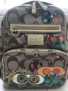 Authentic Coach Poppy Signature Backpack