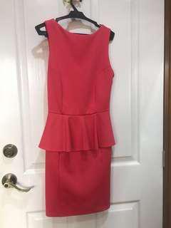 Apartment 8 pink peplum dress