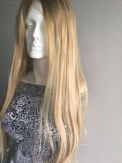 Honey Blonde Synthetic Lacefront Wig