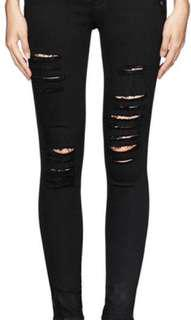 FRAME denim black skinny jeans