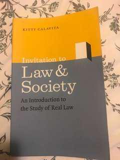 Invitation to Law and Society by Kitty Calvita