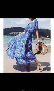 🚚 女神海灘度假洋裝 全新 L