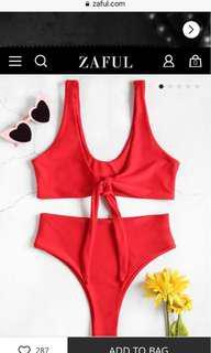 Zaful Red Tie Bikini | brand New