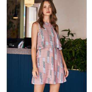 🚚 TCL Noelle Geometric Printed Dress