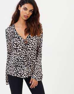 Miss Selfridge animal print blouse