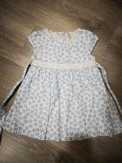 Tiny Button Baby Girl Flower Dress