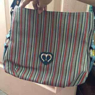 Michaela colorful stripe Shoulder/Body Bag
