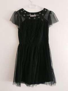 Gorgeous Black Lace A-Line Dress