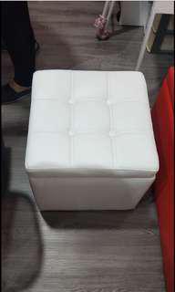 [Used] White Storage Stool / Seat / Bench