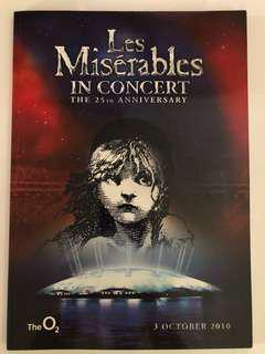 Les Miserables 25th anniversary Live at the O2 souvenir programme book