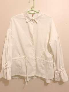 White Button-down oversized Shirt