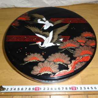 Japanese Style New Year Rotating Snack Container 29cm diametre