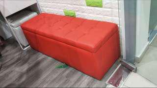 [Used] Red Storage Stool / Seat / Bench