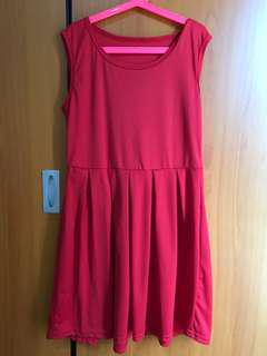 Dress casual merah