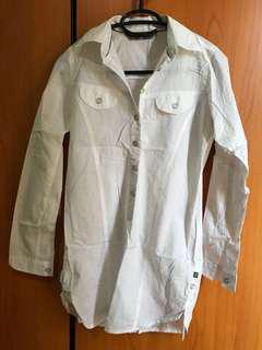 Shirt/atasan lengan panjang putih