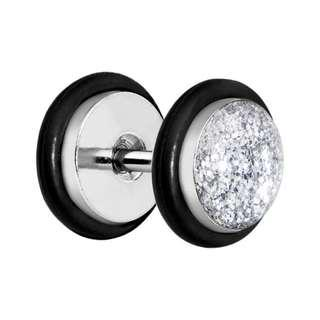 Clear Super Glitter Luxe Cheater Plug