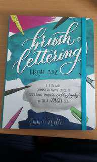 Brush lettering book From A to Z