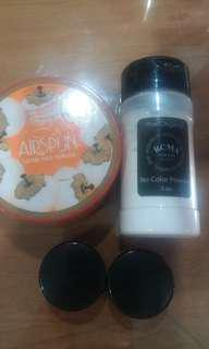 Sample size RCMA No Color Powder + Coty Airspun Loose Face Powder