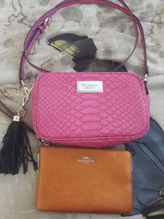 BUNDLE Brandnew coin purse + pre loved body bag
