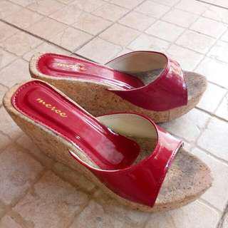 Red High Heels 7cm Sz 37