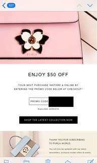 Furla $50 off promo code