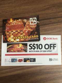 Gyu-Kaku Rewards Card & $10 Voucher