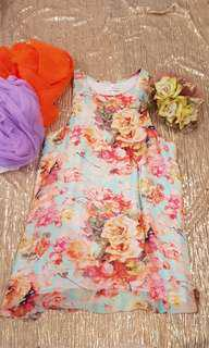 Pretty rose print Mika and Gala dress.